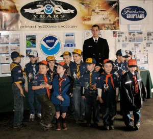 Boy Scouts at the Bellingham Maritime Museum